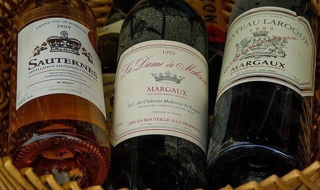 3 Flaschen Bordeaux Wein